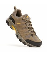 NIB Men's FILA Travail Trail Running Shoes Brown Gold - £34.15 GBP