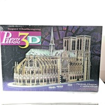 Notre Dame Cathedral Puzz-3D Puzzle Milton Bradley 952 Pcs NEW Sealed VTG 1996 - $54.44