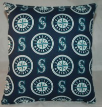Mariners Pillow Seattle Mariners Pillow MLB Handmade in USA Pillow Baseball - $9.97
