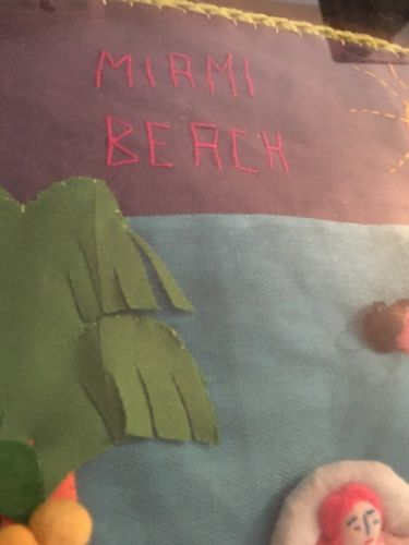 Folk Art - Miami Beach Florida With Nudity - Thread And Yarn