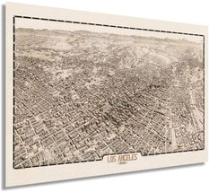 1909 Map of Los Angeles California - Vintage Map Wall Art - Los Angeles Decor -  - $34.99+