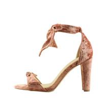 Qupid Goodney 01 Coral Women's Velvet Ankle Wrap Heel - $34.95
