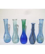Vintage Blue Bud Vases wedding parties and home decor - $14.00