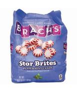 Brach's Star Brites 58 oz, bulk bag, peppermint red and white indv wrapp... - $23.99