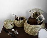 Round Seagrass Lidded Storage Bin (Set 3)| Home Pantry Decoration & Organization - $0.00