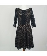 Women's Nine West Black Lace Dress Size 10 - $23.15