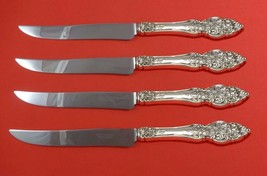 Vienna by Reed and Barton Sterling Silver Steak Knife Set 4pc Texas Sized Custom - $289.00