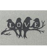 Love Birds Sitting On A Branch Wood Wall Art Decor  - $15.95