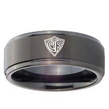CTR 8mm Black Step Edges Tungsten Carbide Wedding Band Ring - $43.99