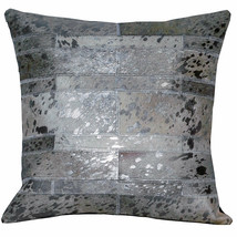 Pl518-F Cowhide Leather Hair-On Patchwork Cushion Pillow Cover U-L518 - $29.69