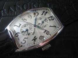 "Franck Muller 18ct Oro Blanco ""Master Banker"" auto. GMT Hombres Reloj MENTA - $15,000.66"