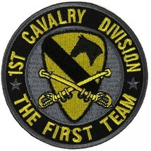 US Army 1st Cavalry Division Patch The First Team - 3x3 inch ! - $9.89