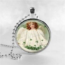 IRISH ANGEL Pendant Necklace Jewelry St. Patrick's Day Jewelry Art Neckl... - $11.95