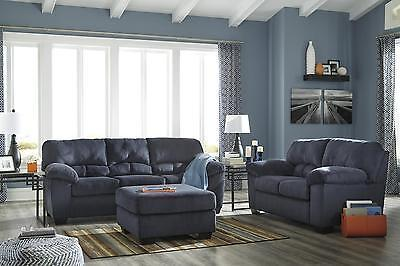 Ashley Dailey Living Room Set 3pcs in Midnight Upholstery Fabric Contemporary