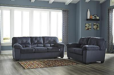 Ashley Dailey Living Room Set 2pcs in Midnight Upholstery Fabric Contemporary