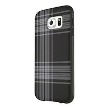 Belkin Galaxy S6 Phone Protector Black Gray Plaid Black Plaid Case Cover... - $5.83