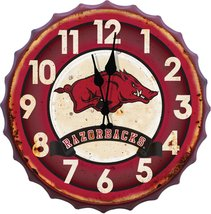 University Of Arkansas Bottle Cap Clock - £26.23 GBP