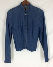 Sharon Young Denim Jacket Button Front Stylish ... - $22.44