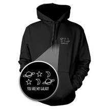 You Are My Galaxy Hoodie Pocket Hooded Sweatshirt Graphic Sweater - $25.99+