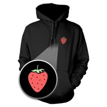 Strawberry Hoodie Pocket Print Hooded Sweatshirt Graphic Sweater - $25.99