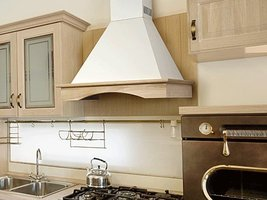 """Range Hood Wall Mounted Wood 24"""" CHR-115 NT AIR. Made in Italy. - $799.00"""