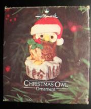 Hallmark Cards Christmas Ornament 1980 Christmas Owl Tree Trimmer Collection Box - $10.99