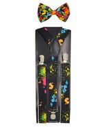 """Paint splatter"" Wedding Tuxedo Adjustable Bow Tie & Suspender Set  - $5.93"