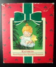 Hallmark Keepsake Christmas Ornament 1984 Katybeth Hand Painted Porcelai... - $6.99