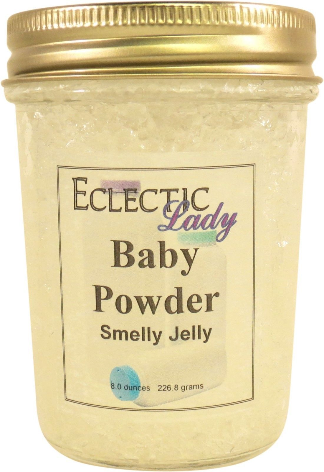 Baby Powder Smelly Jelly, Room Air Freshener, 8 oz
