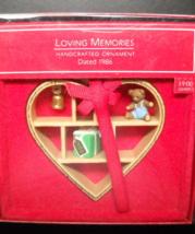 Hallmark Keepsake Christmas Ornament 1986 Loving Memories Handcrafted Boxed - $8.99