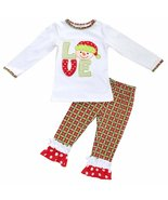 Unique Baby Girls Christmas Snowman Outfit (5T) Red - $24.99