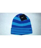 New Nike Unisex YOUTH Blue Striped Winter/Running Beanie Sz 8/20  - $20.00