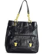 NWT Coach Black Leather Poppy Pushlock North So... - $393.82