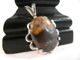 19.5 ct Boulder Opal Pendant Sterling Silver RKS515 - $25.00