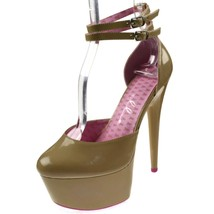 "Ellie Shoes High Heel 6"" Tan Double Ankle Strap... - $62.95"