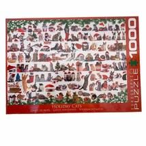 NEW Holiday Cats puzzle 1000 pieces eurographics christmas red xmas  - $24.74