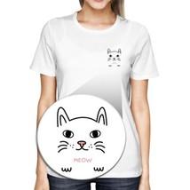 Meow Kitty Pocket T-shirt Back To School Tee Ladies Cute Shirt - $14.99