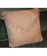 Pillow envelope style with fringe in tans new h... - $14.00