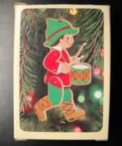 Hallmark Keepsake Christmas Ornament 1981 Drummer Boy Wood Moveable Boxed - $10.99