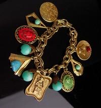 Vintage cleopatra Bracelet - Vintage Egyptian revival charms - pharaoh F... - $195.00