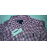 New Ralph Lauren Girls Plaid Pink White Casual Country Shirt Sz 6X - $20.00