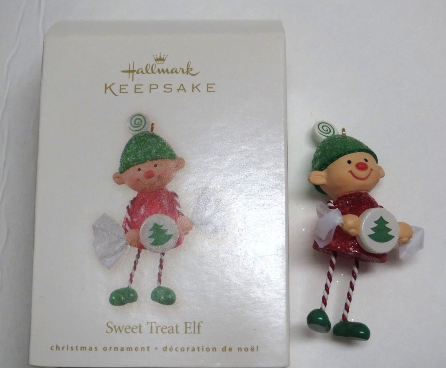 Hallmark Keepsake Ornament 2008 SWEET TREAT ELF Candy Cane Gumdrop Tree