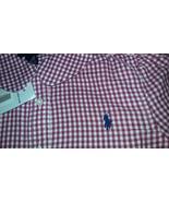 New Ralph Lauren Girls Plaid Pink White Casual Country Shirt Sz 4 - $20.00