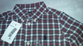 New Ralph Lauren Toddlers Boys Casual Country Plaid Shirt Sz 9M - $17.00