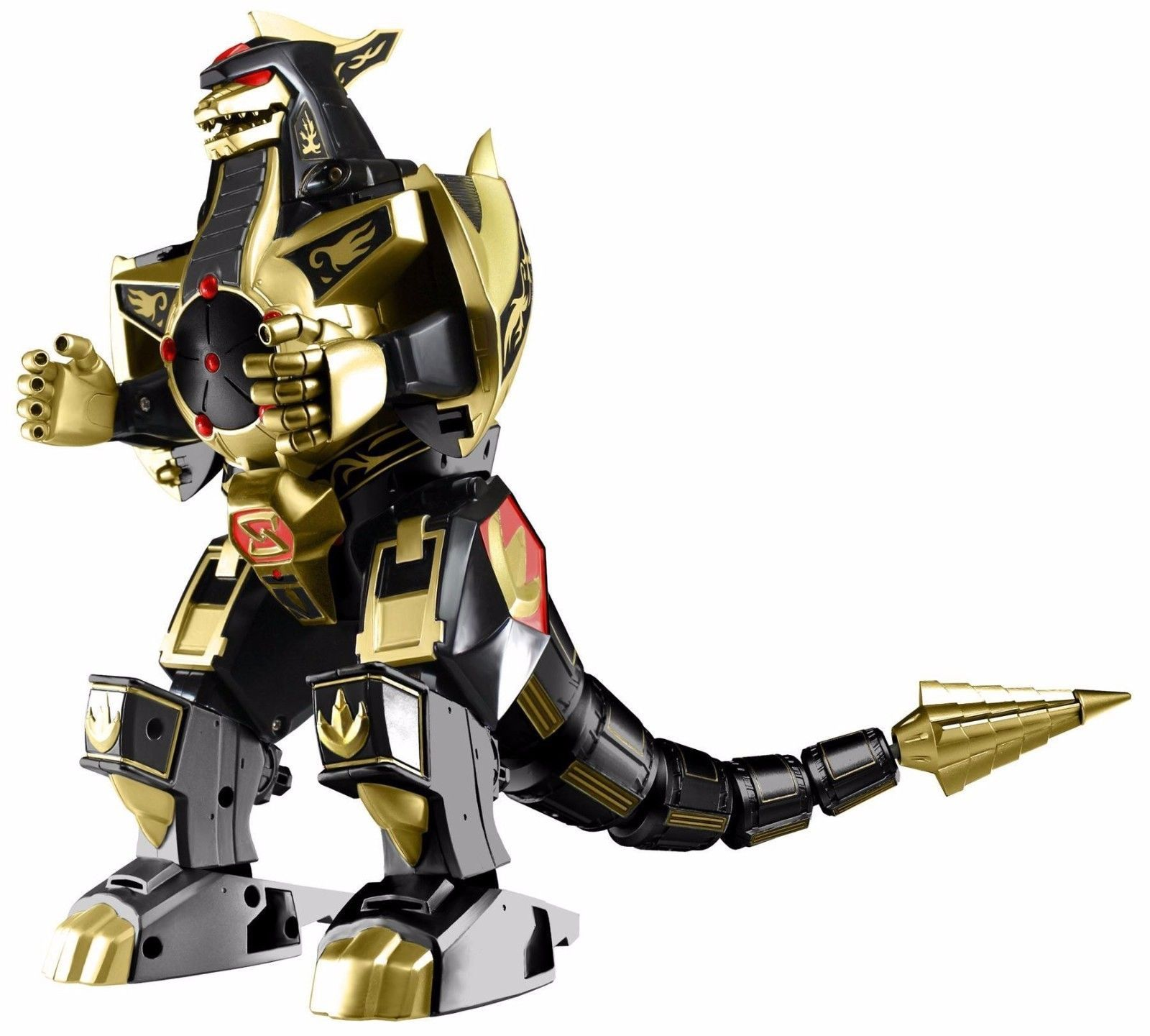 Original Bandai Mighty Morphin Power Rangers Legacy Dragonzord Gold Black Figure