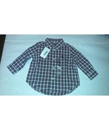 New Ralph Lauren Toddlers Boys Casual Country Plaid Shirt Sz 12M - $20.00