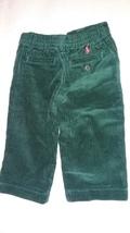 New Ralph Lauren Toddlers Boys Green Casual Corduroy Winter Pants Sz 12M - $15.00
