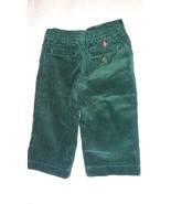 New Ralph Lauren Toddlers Boys Green Casual Corduroy Winter Pants Sz 9M - $20.00