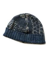Kapital 7G Sashiko Patchwork knit CAP Navy Made in Japan - $199.99