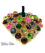 Graziano Austrian Crystal Pendant Necklace in Stunning Multi Colors  - $89.00